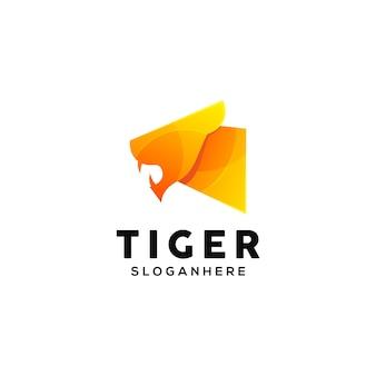 Шаблон красочного логотипа тигра