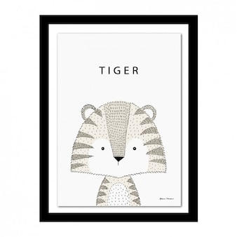 Tiger design frame
