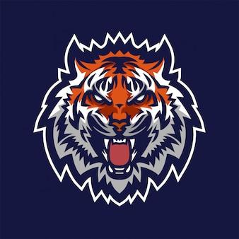 Tiger esport gaming mascot logo template