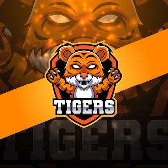 Tiger esport mascot logo design