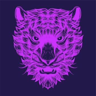Иллюстрация лица тигра