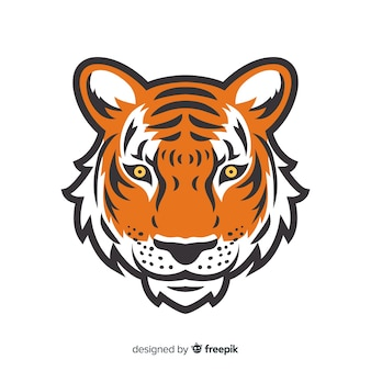 Tiger face background