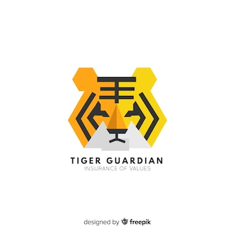 Tiger face background