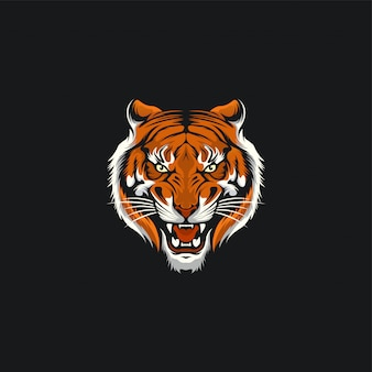 Tiger face design ilustration