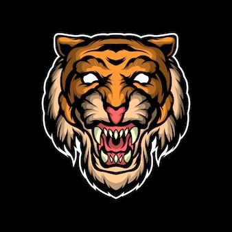 Tiger face illustration