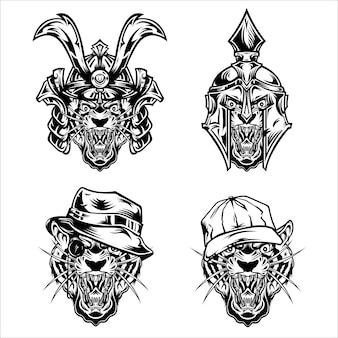 Tiger face pack