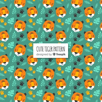 Tiger faces pattern