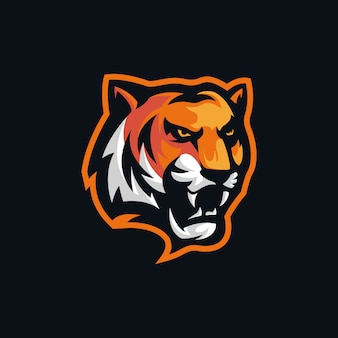 Tiger head angry logo