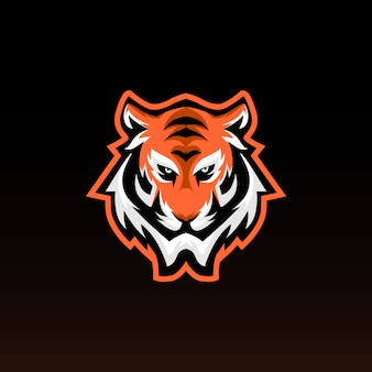 Tiger head gaming mascot. tiger e sports logo. modern style