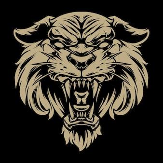 Голова тигра иллюстрация 2 Premium векторы