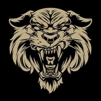 Голова тигра иллюстрация 3