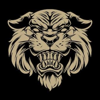 Голова тигра иллюстрация 5
