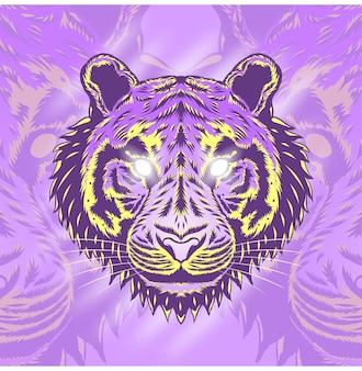 Дизайн иллюстрации головы тигра
