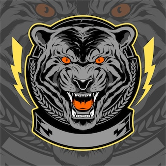 Tiger head illustration design