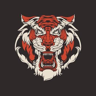 タイガーヘッドイラスト