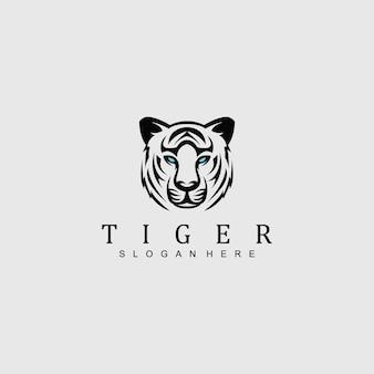 Tiger head logo for any business
