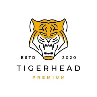 Значок эмблемы головы тигра