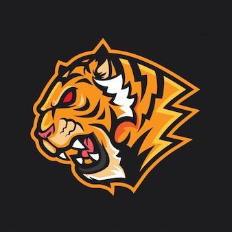 Tiger head logo mascot