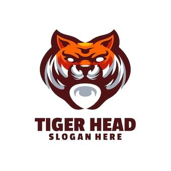エレガントで威厳のあるタイガーヘッドのロゴで、関連するすべての業界に適しています