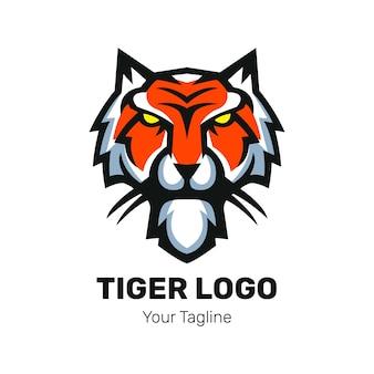 Tiger head mascot logo design vector