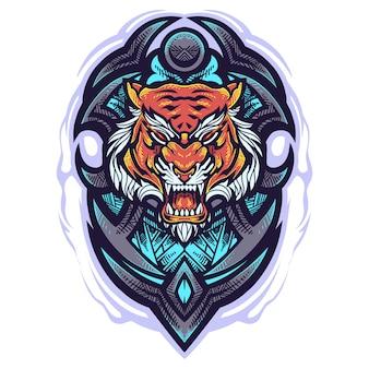 Tiger head mascot logo