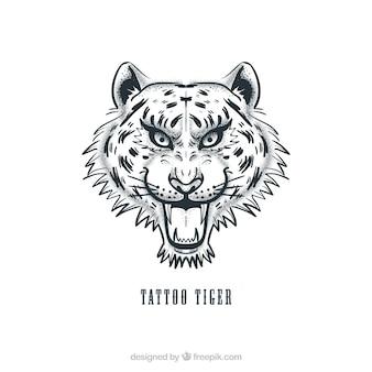 Tiger head tattoo vector