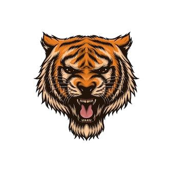 虎の頭のベクトル図