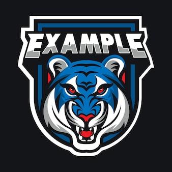 Tiger head vector logo