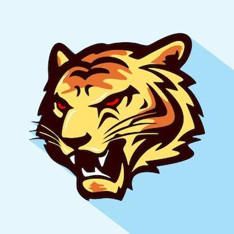 Tiger head - vector