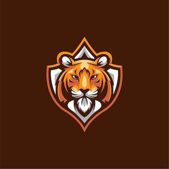 Дизайн иллюстрации тигра, логотип киберспорта.