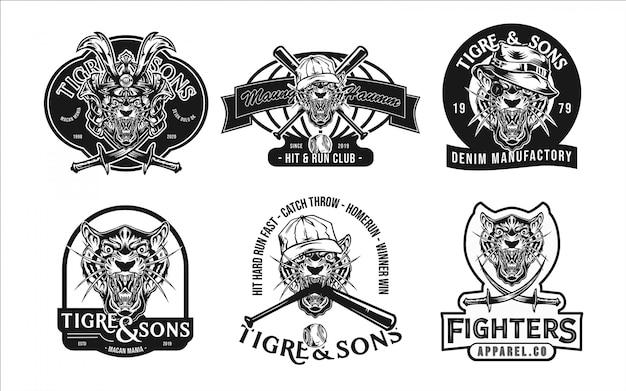 Шаблон логотипа тигра