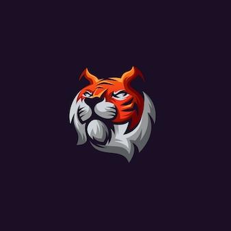 Tiger logo on dark