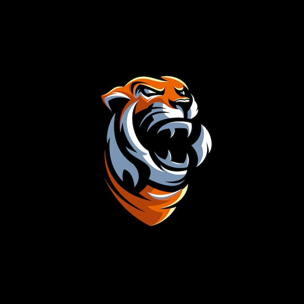 Tiger logo design illustration