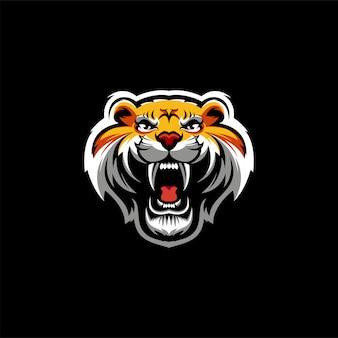 Tiger logo design vector