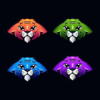 호랑이 로고 디자인