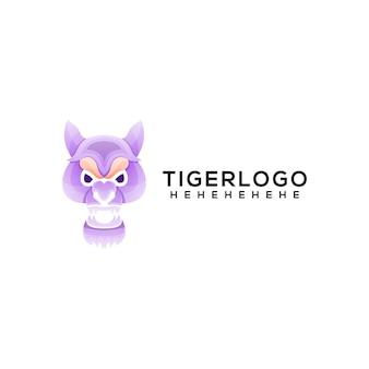 虎のロゴのテンプレート