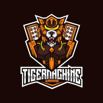 Tiger machine esportのロゴのテンプレート
