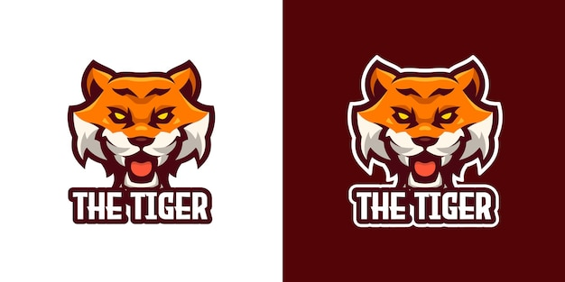 The tiger mascot character logo template