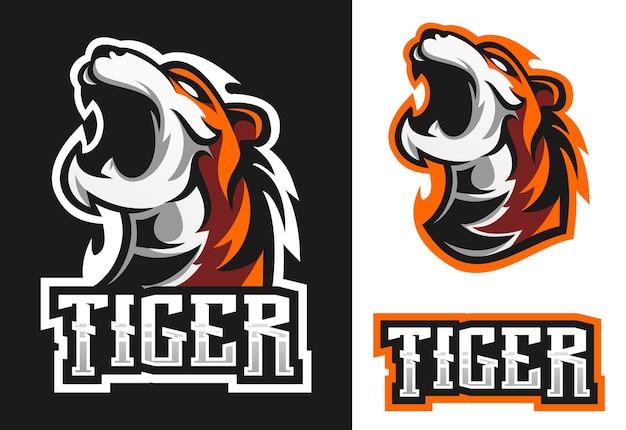 Tiger mascot esport logo   design
