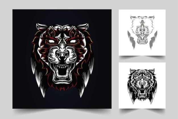 Тигр талисман логотип