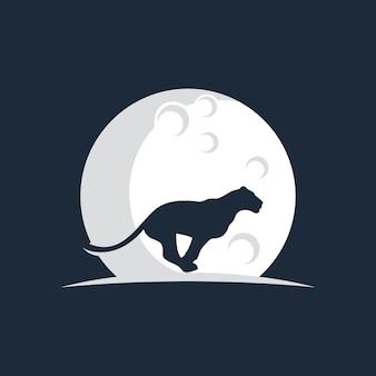 Tiger and moon logo
