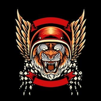 Tiger motorcycle club mascot
