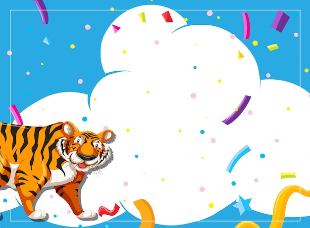 Tiger party scene invitation