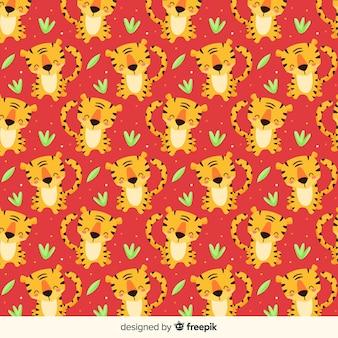 호랑이 패턴 배경