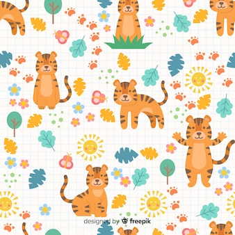 Tiger pattern background
