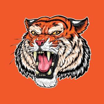 Tiger roar vector illustration