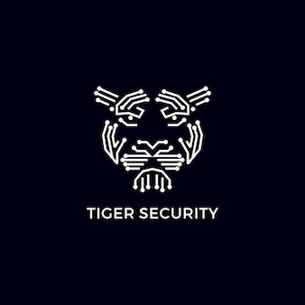 Tiger security modern logo