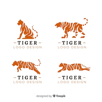 Tiger silhouette logo pack