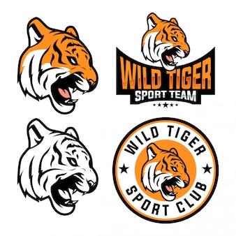 Tiger sport logo set