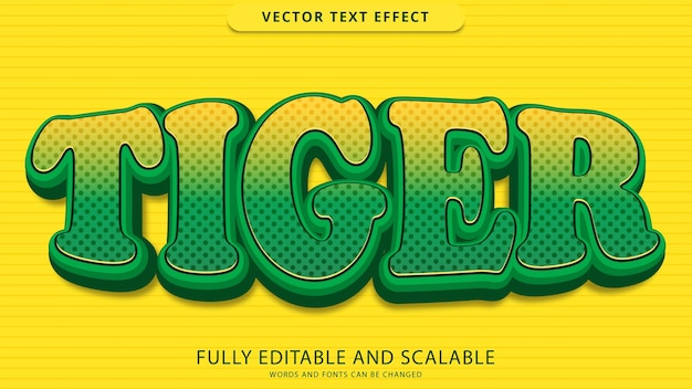 Tiger text effect editable eps file